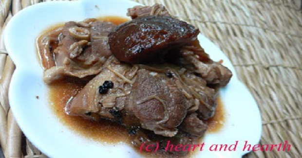 Red Cooked Pork (Adobo) And Mushrooms With Beer Recipe