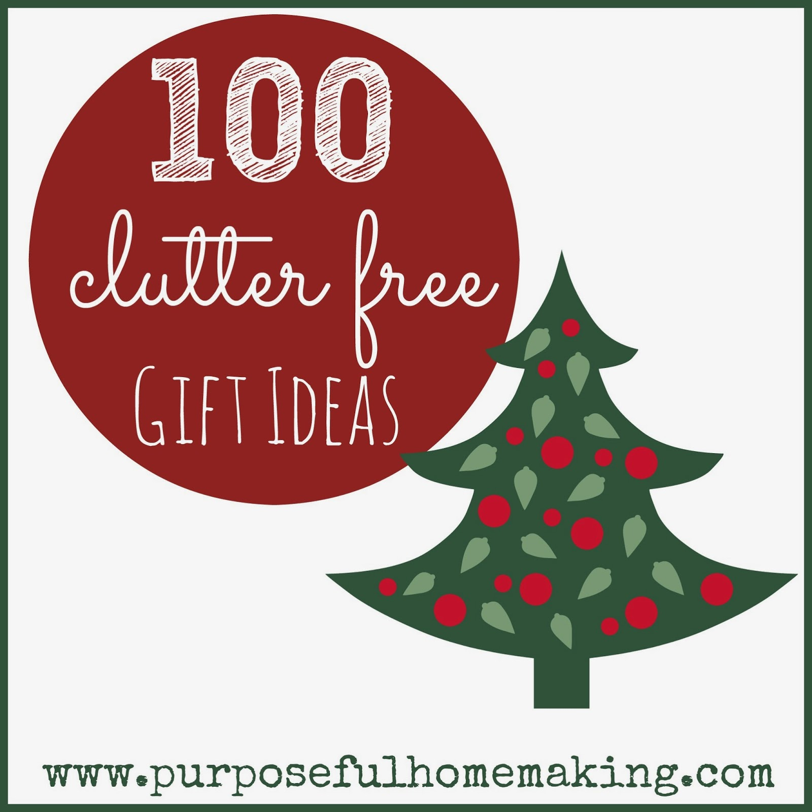 Clutter free christmas gift ideas