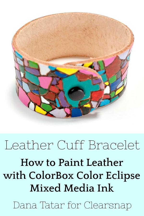 How to Paint Leather with ColorBox Color Eclipse Mixed Media Ink
