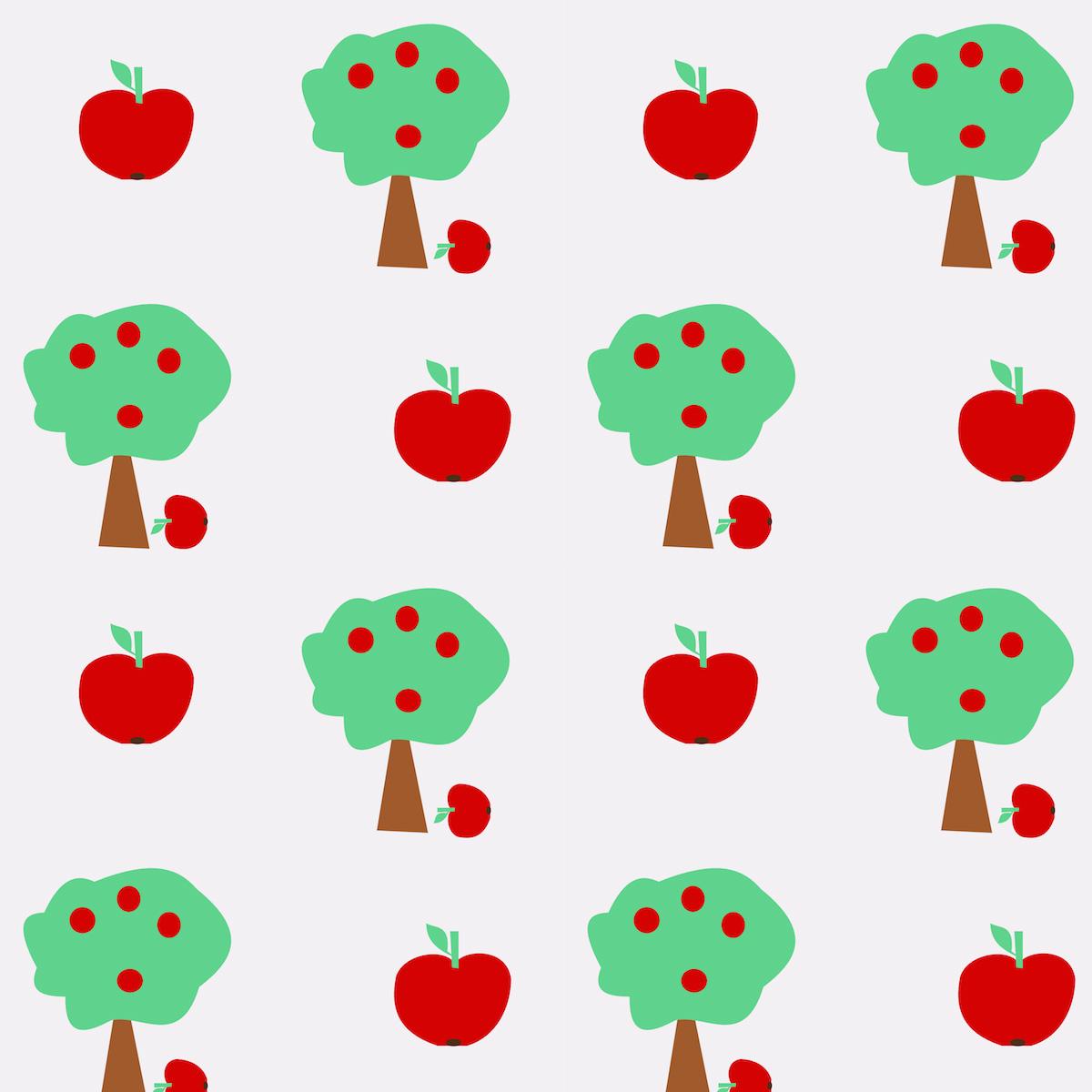 Free Digital Apple Tree Scrapbooking Paper Ausdruckbares Geschenkpapier