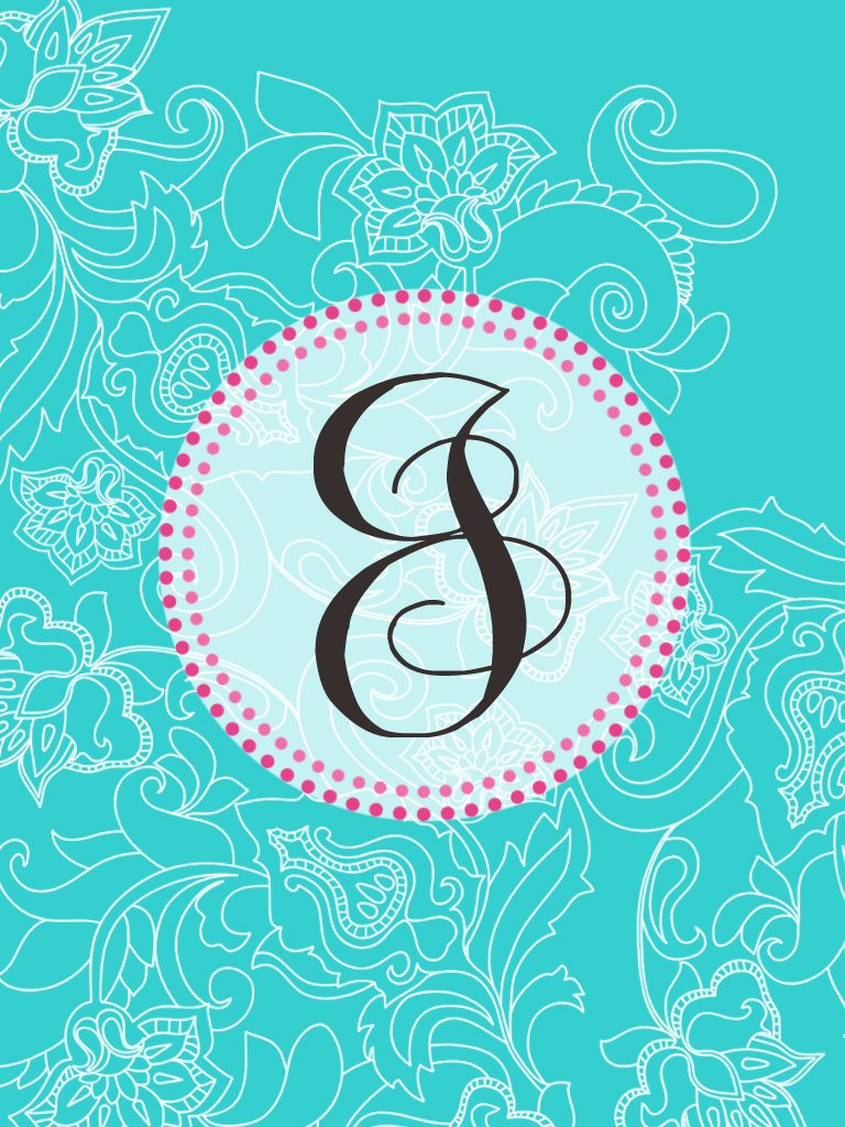 Monogram Letter ...J Letter Design Wallpaper