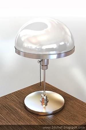free 3d model desk lamp