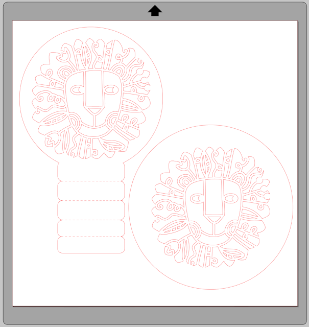 Lion Head Cutout and FREE stand Cutting file by Janet Packer for Silhuette UK Blog
