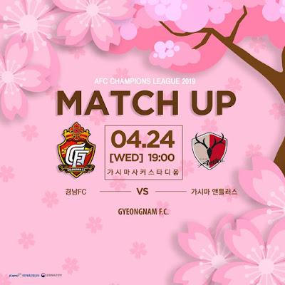 Live Streaming Kashima Antlers vs Gyeongnam FC 24.4.2019