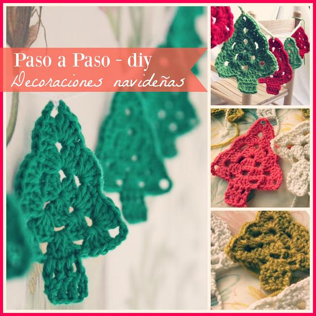 cómo hacer decoraciones navideñas al Crochet