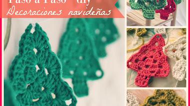 Decoración Navideña en Crochet - Granny de Árbol