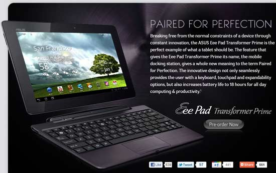 asus transformer prime best deal in us