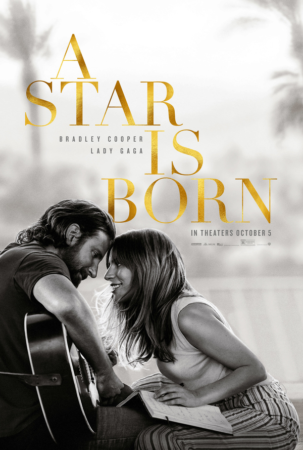 Music Television soundtrack music video for the song titled Shallow from film remake of A Star Is Born featuring Lady Gaga and Bradley Cooper