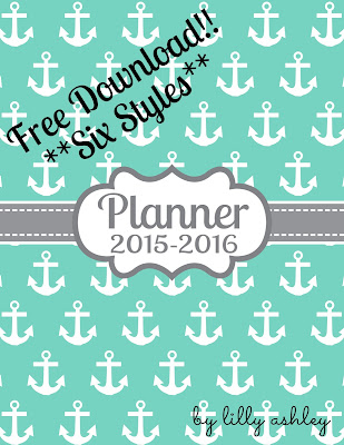 planner printables freebie