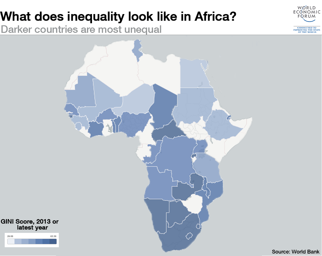 What does inequality look like around the World:Africa?