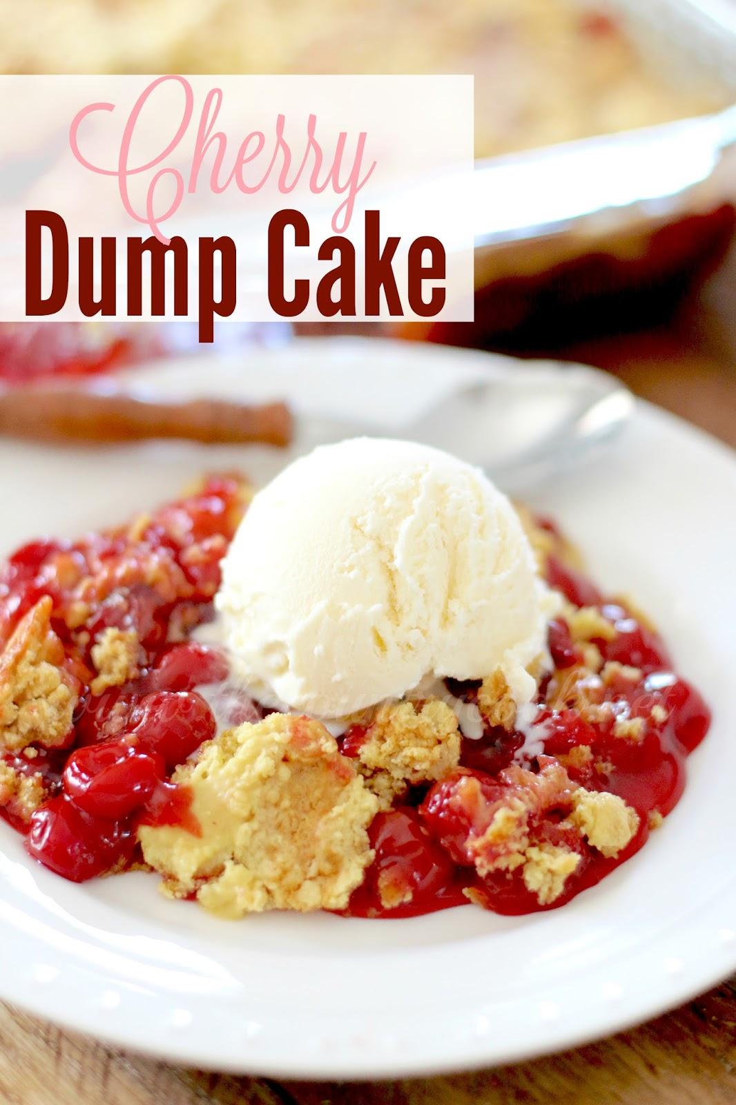 Cherry dump cake cobbler recipe