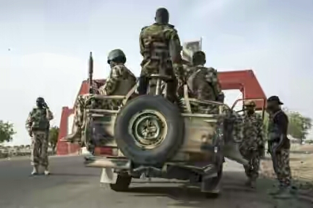 Nigerian troops foil Boko Haram suicide attack in northeast,Soliders,Army's