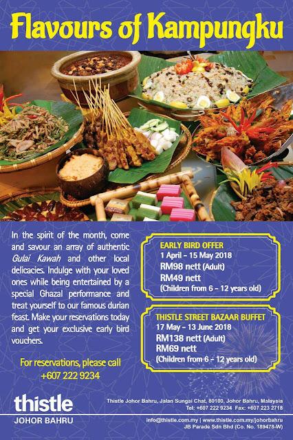 Buffet Ramadhan 2018 sekitar  Johor Bahru