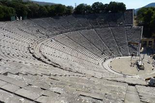 Península del peloponeso. Anfiteatro de Epidauro.