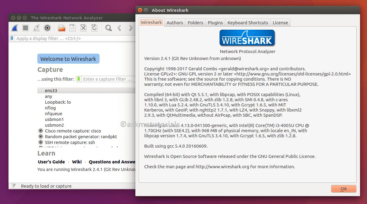 Install Wireshark 2 4 1 in Ubuntu 17 04 / 16 04 LTS