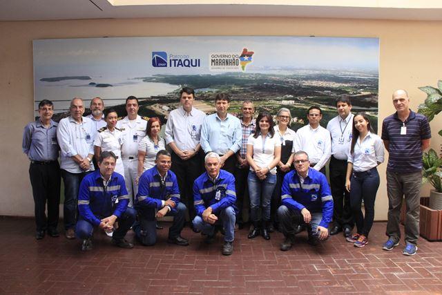 O presidente da Emap, Ted Lago, e equipe, recebem Comissão Permanente Nacional dos Portos.