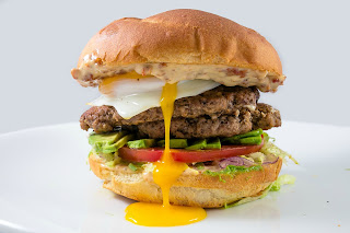 Things that don't mix: burgers and raw eggs