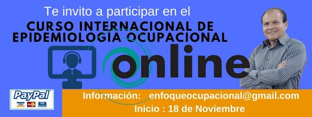 Epidemiología Ocupacional para No Epidemiólogos Curso Internacional. Inicio 18 de Noviembre