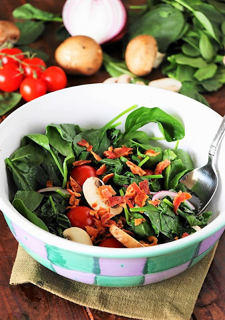 Wilted Spinach Salad image