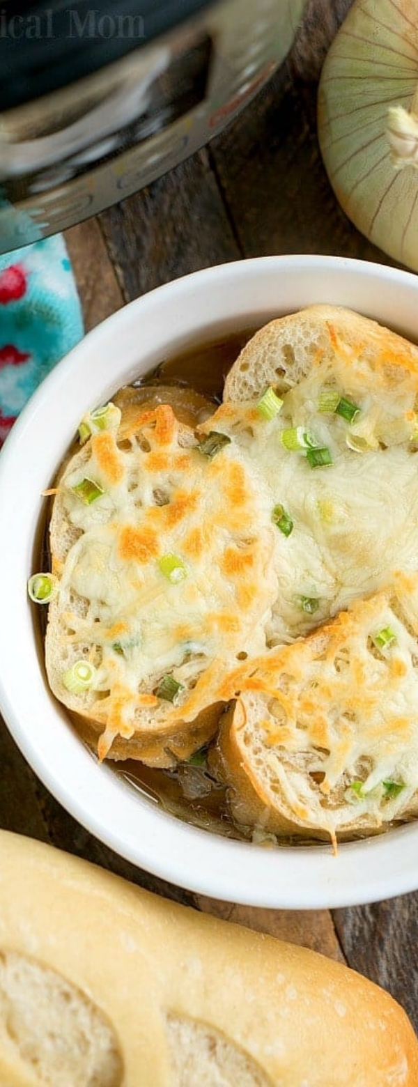 Pressure Cooker French Onion Soup #instantpot #pressurecooker #frenchonionsoup #onion #soup #healthy #glutenfree #vegetarian