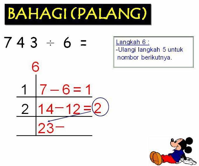 Matematik UPSR 2016 | Bahagi Kaedah Palang