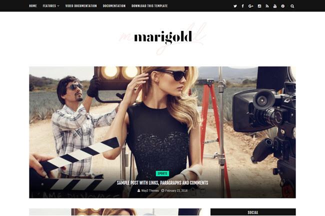 Marigold - Responsive Personal Blogger Template