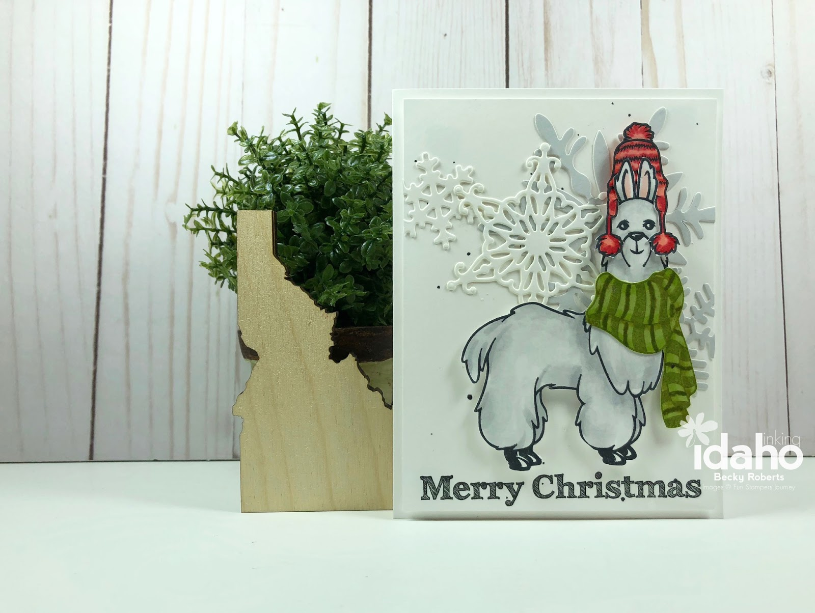 Inking Idaho: No Prob-llama Christmas Card