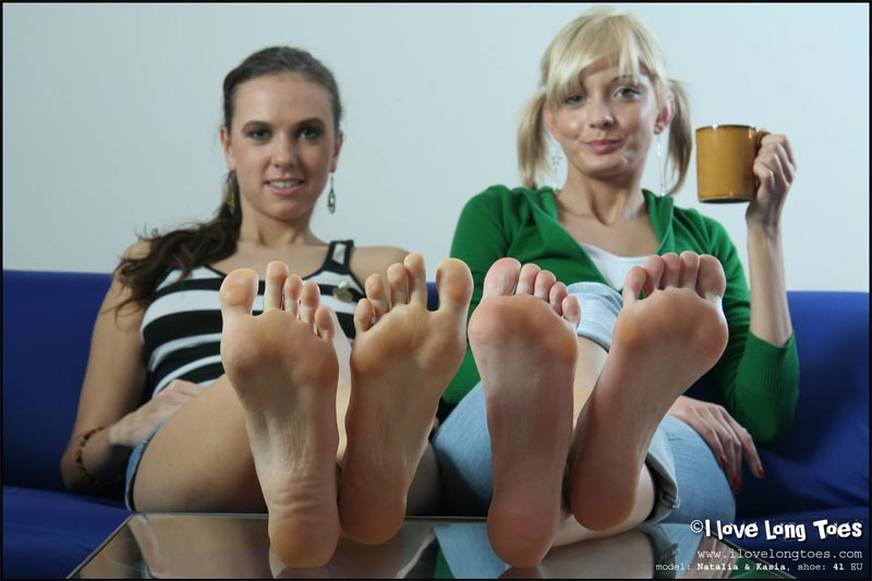 2 pregnant and barefoot lesbians having a good time 2