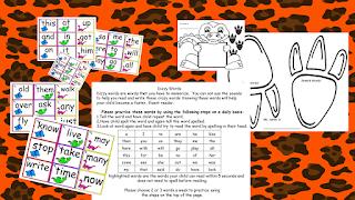 Dinosaur Sight Words Practice Teach Magically