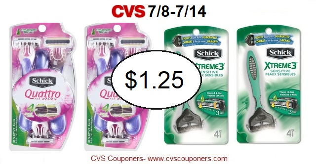 http://www.cvscouponers.com/2018/07/hot-schick-disposable-razors-only-125.html