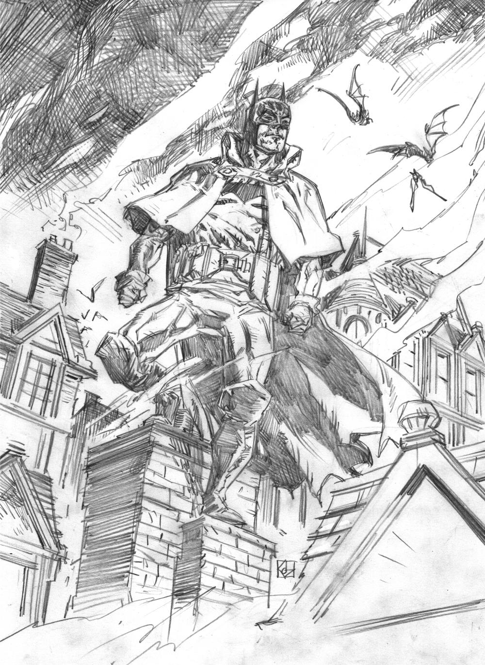 Batman Gotham By Gaslight Sketch Wip