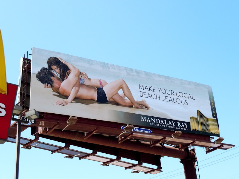 Mandalay Bay beach billboard