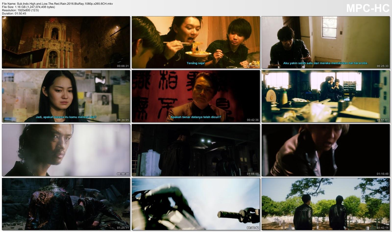 Screenshots Download Film Gratis High & Low the Red Rain (2016) BluRay 1080p X265 HEVC 6CH Subtitle Indonesia MKV Nonton Film Gratis Free Full Movie Streaming