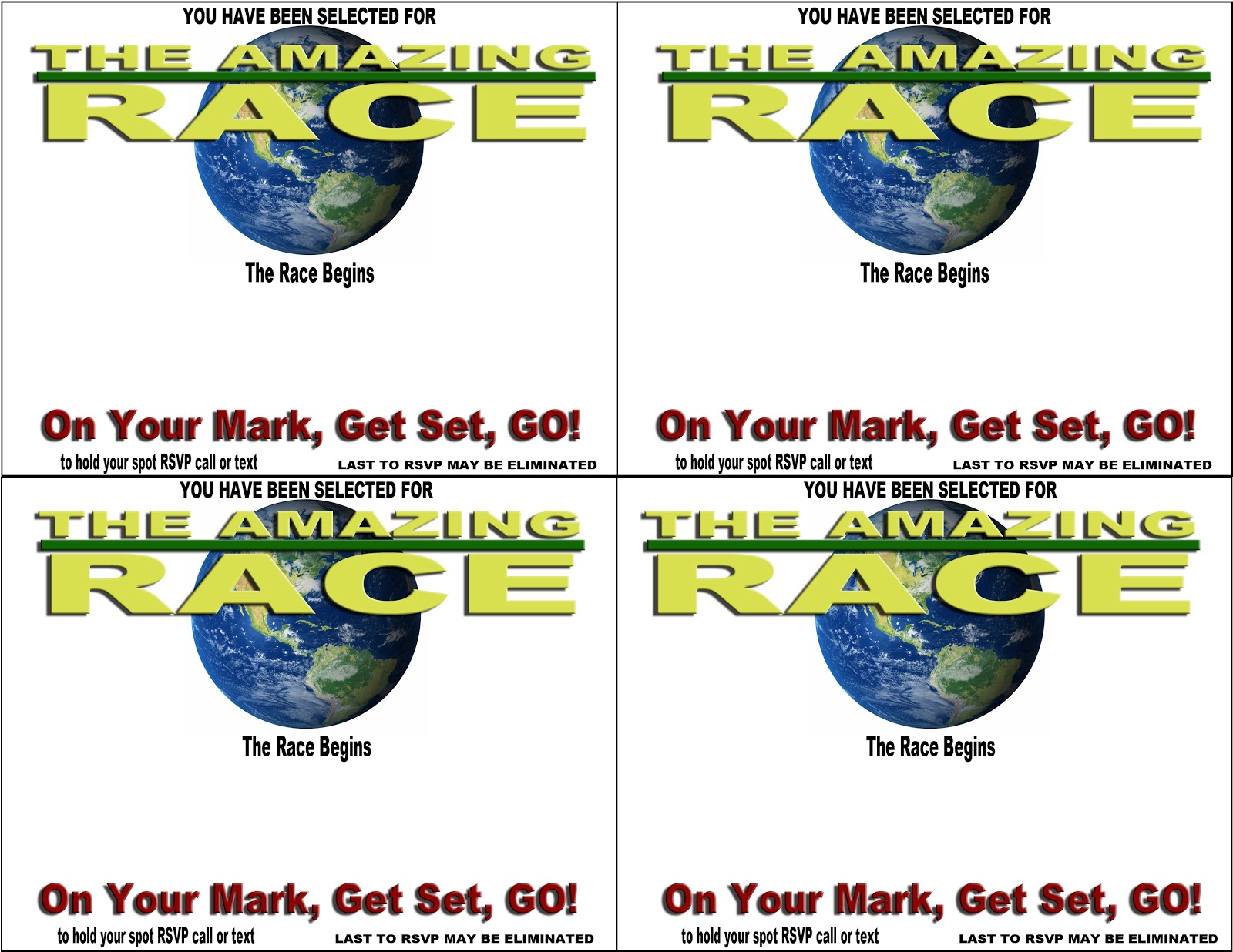 amazing race birthday party templates - amazing race party invitations party invitations ideas