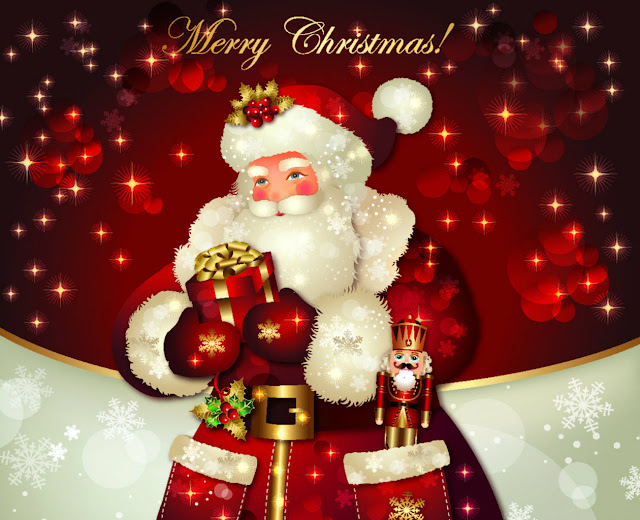 merry christmas hd santa wallpaper funny picture