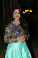 Nikki Galrani in Green Skirt  Top at Marakathamani music launch ~  Exclusive (64).JPG