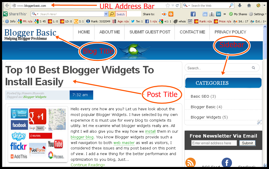 Create Free Web Blog in Blogger