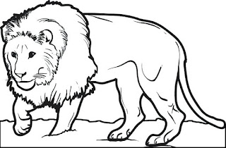Printable Lion Coloring Sheet For Kids