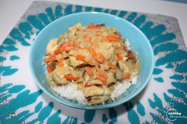Ekspresowe zielone curry z kurczaka