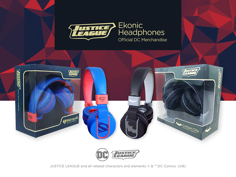 Ekonic Justice League Headphones Announced, Collectibles Priced At PHP 1165 Only!