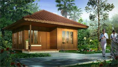 Desain Rumah Kayu Di Kampung