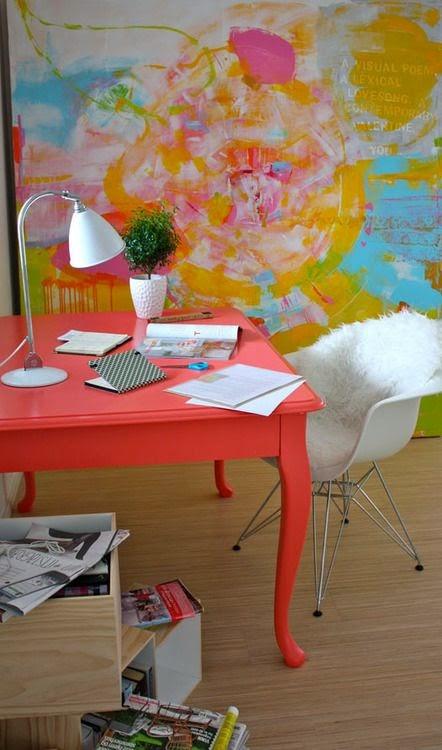 Rosa Beltran Design Punchy Bright Colorful Desks