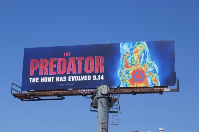 The Predator film billboard