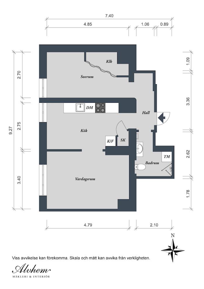 Plano de distribución de la casa