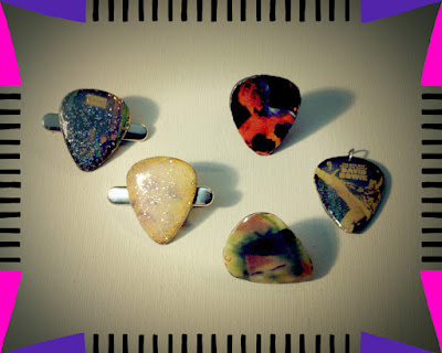 Available David Bowie Guitar Pick Jewelry