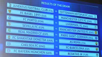 ucl round 16 draws