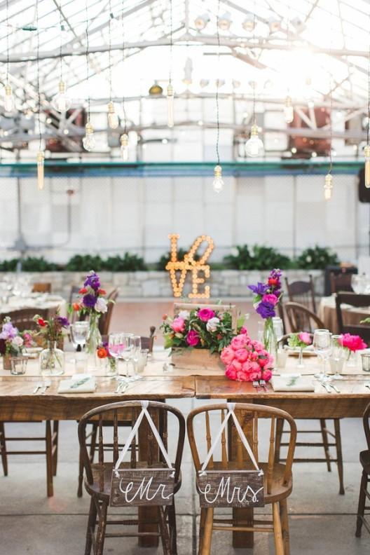 Cómo decorar una fiesta de boda de lo más original chicanddeco
