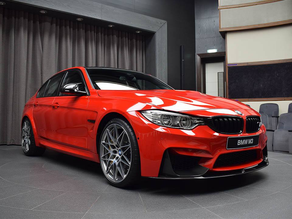 Bmw M3 With Competition Package Looking Good In Ferrari Red