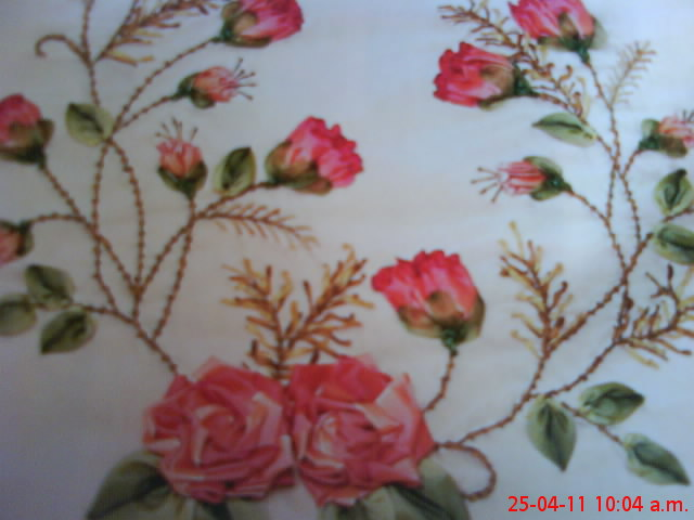 Bordado De Flores Con Liston Imagui