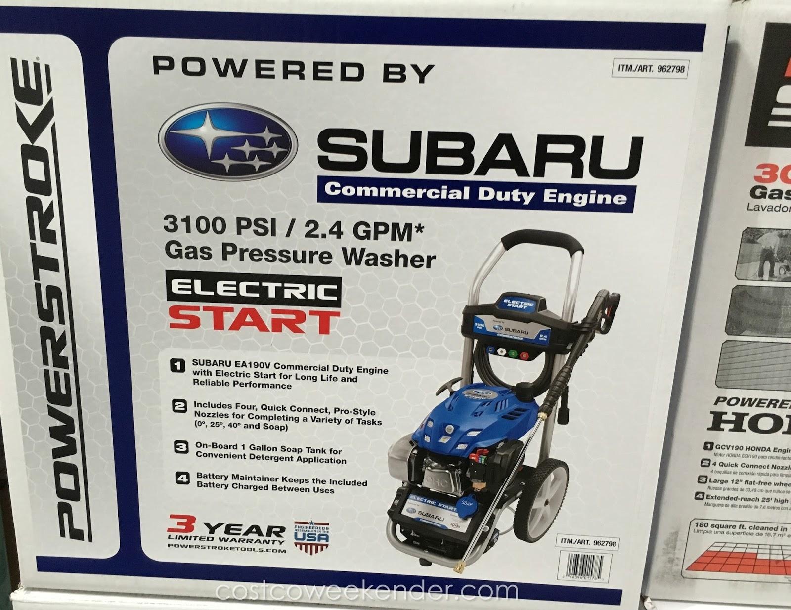 Subaru South Blvd >> Powerstroke 3100psi Electric Start Gas Pressure Washer   Costco Weekender